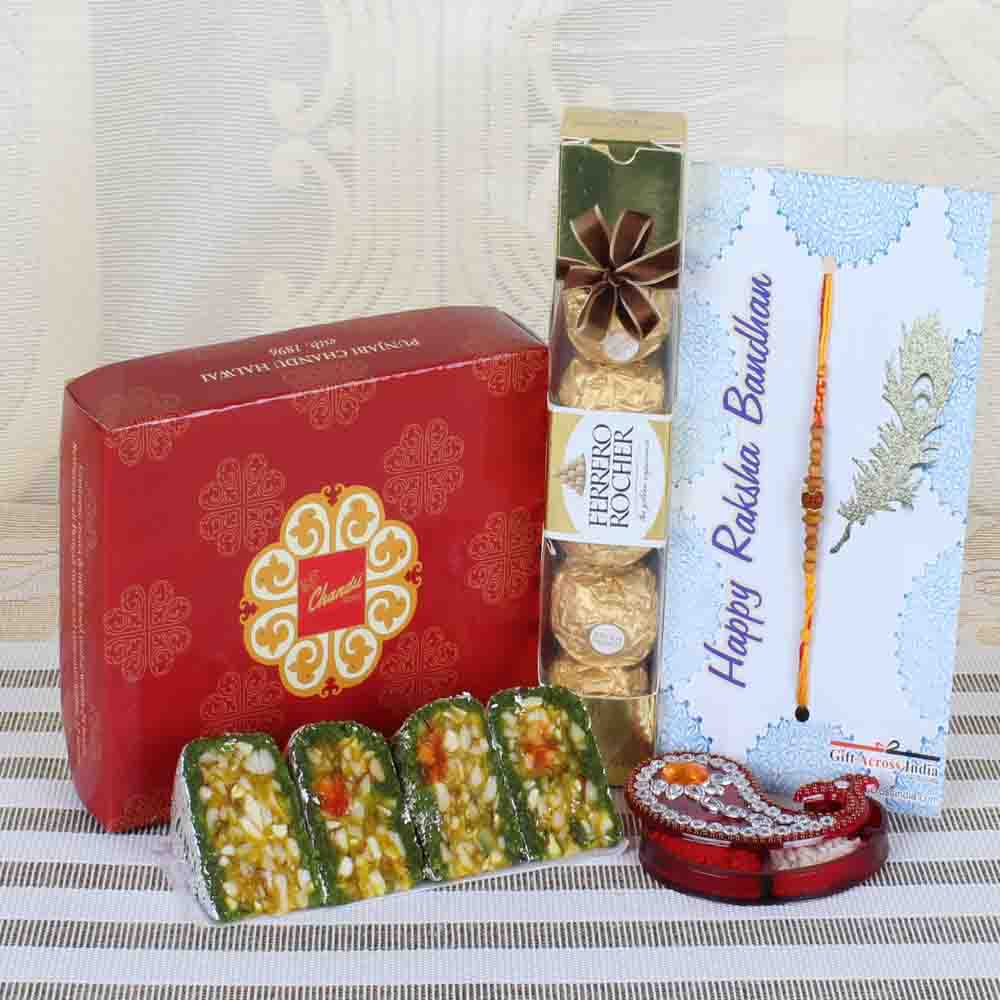 Ferrero Rocher with Sweets and Charming Rakhi