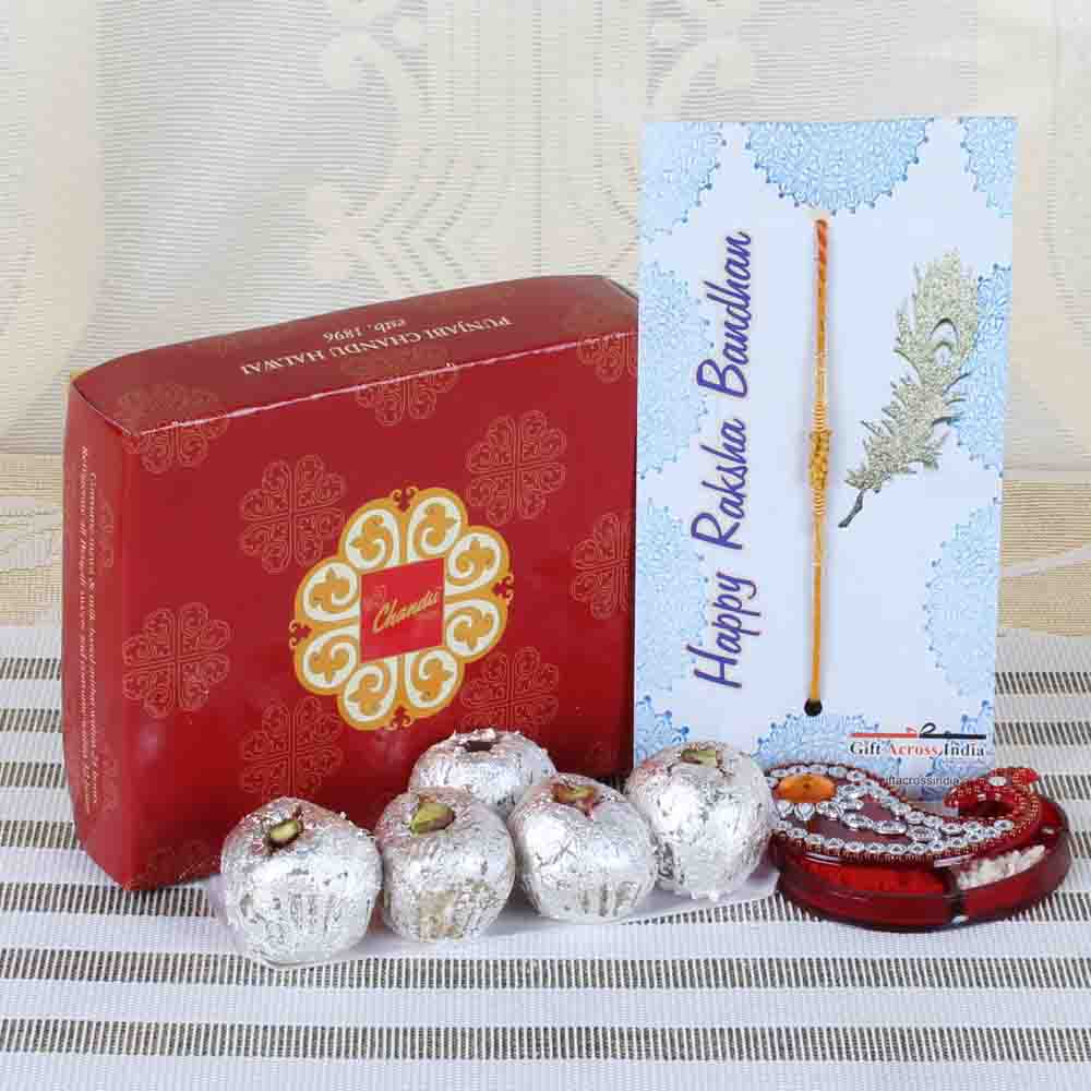 Bon Bon Sweets with Tiny Wooden Beads Rakhi