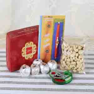 Rakhi Hampers-Attractive Sweets Combo for Brother