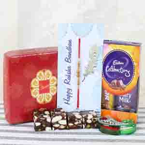 Rakhi Hampers-Memorable Yummy Rakhi Gift for Brother