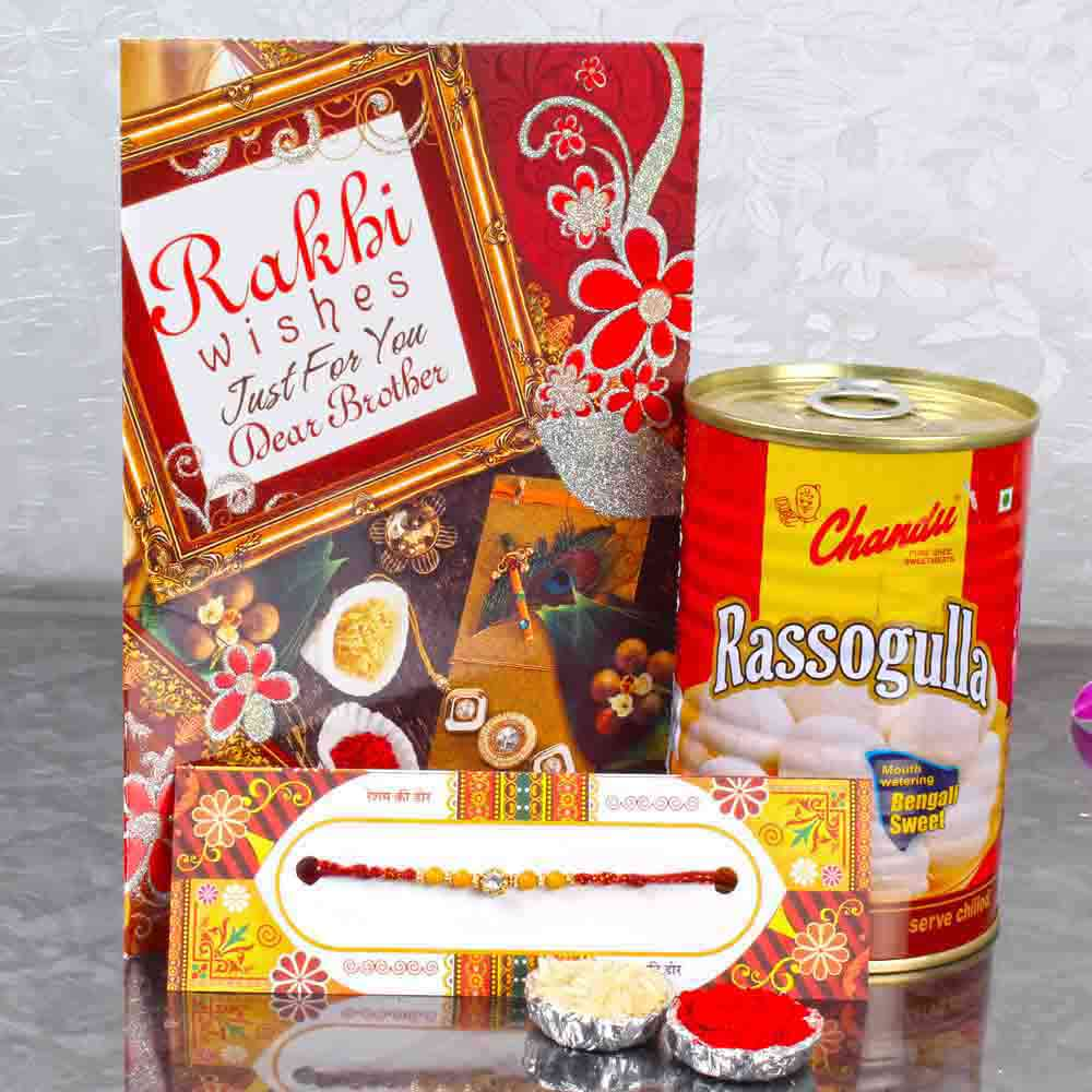 Exclusive Rakhi with Rasgulla