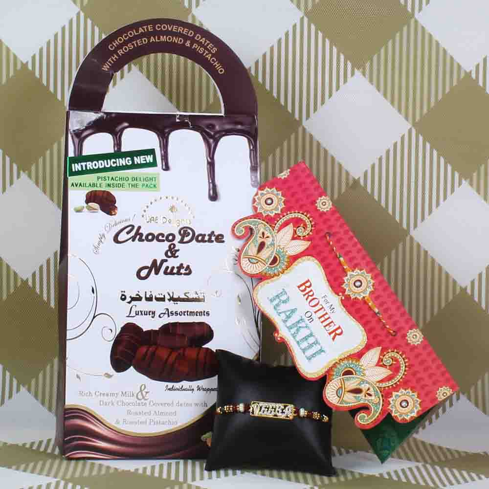 Choco Dates and Nuts Pack with Veera Rakhi