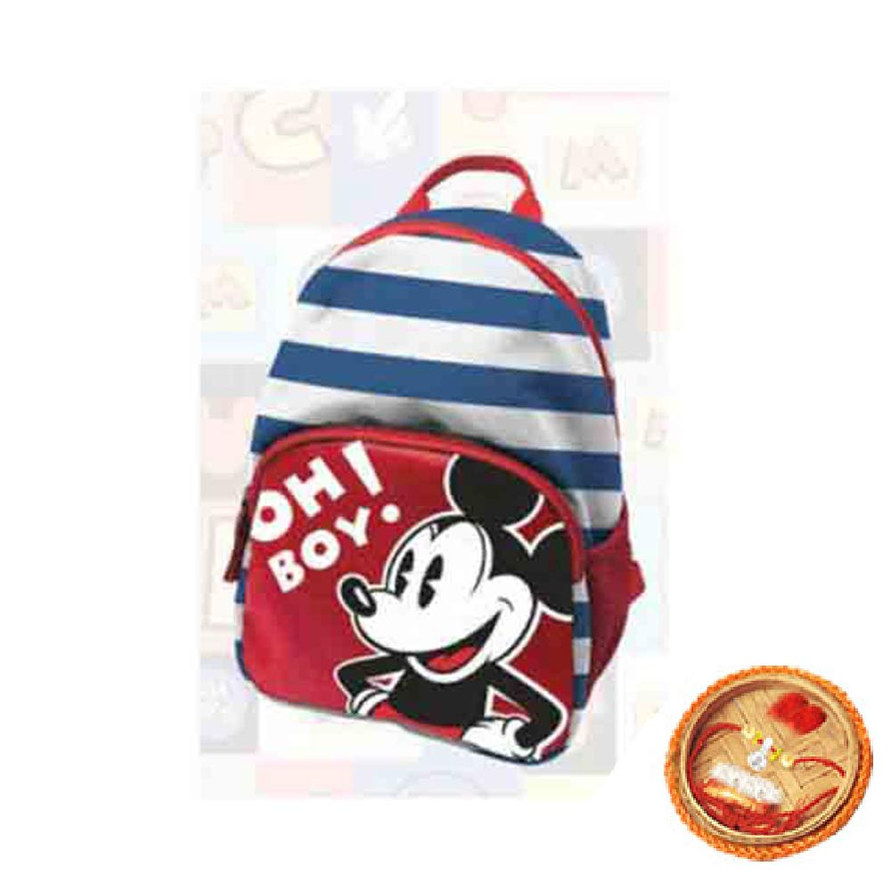 Mickey Toddler Bag With Free Rakhi