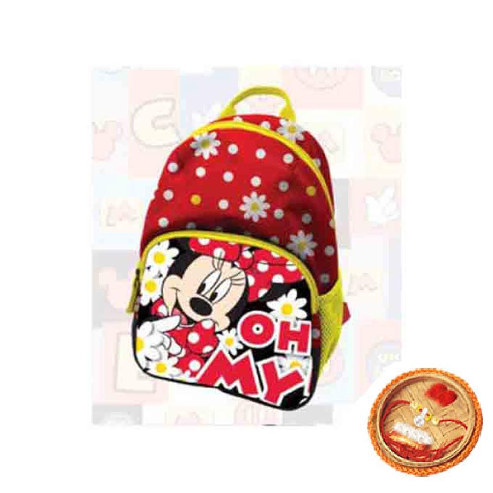 Rakhi Hampers-Minnie Toddler Bag With Free Rakhi