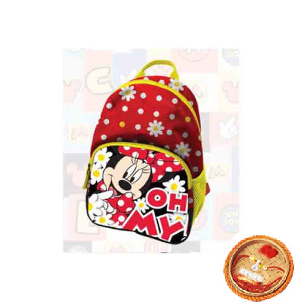 Minnie Toddler Bag With Free Rakhi