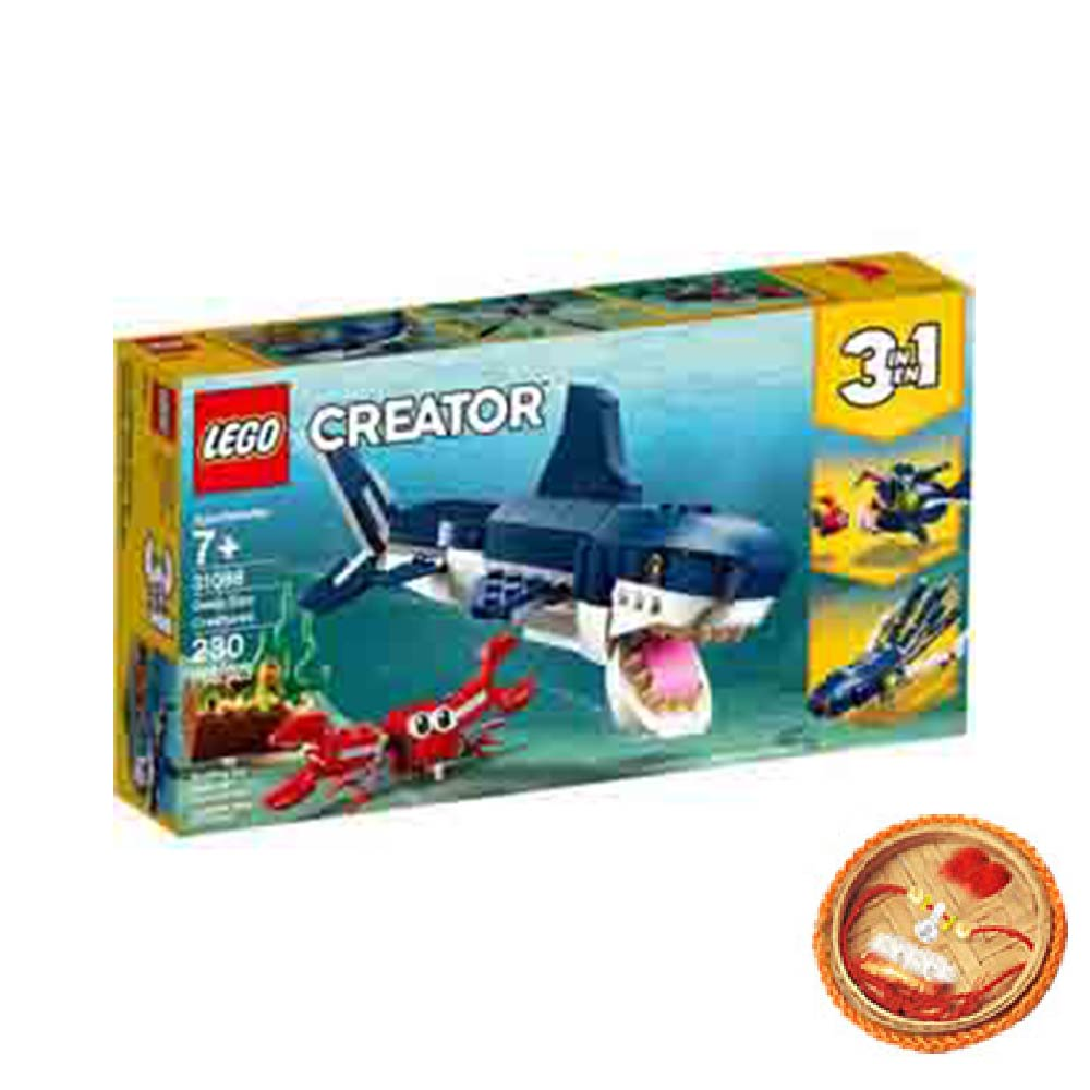 Rakhi Hampers-Lego Creator Deep Sea Creatures With Free Rakhi