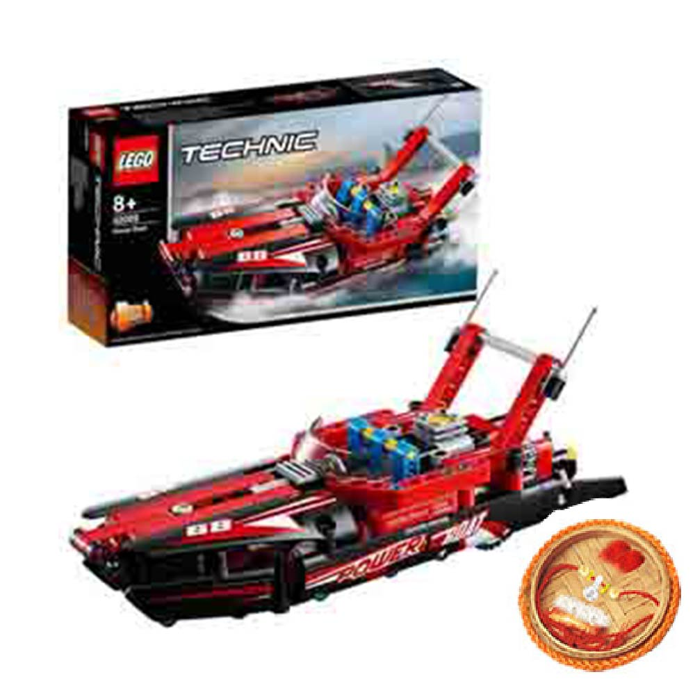 Rakhi Hampers-Lego Technic Power Boat With Free Rakhi