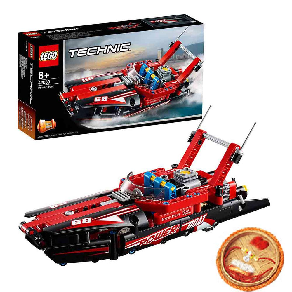Lego Technic Power Boat With Free Rakhi