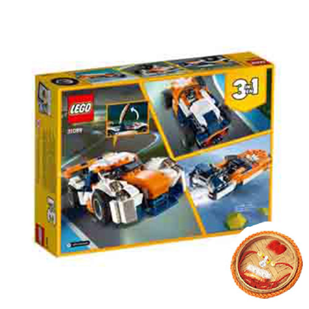 Rakhi Hampers-Lego Creator Sunset Track Racer With Free Rakhi