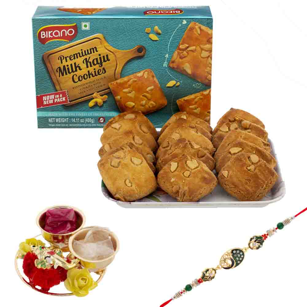 Chocolates & Cookies-Bikanervala Premium Milk Kaju Cookies