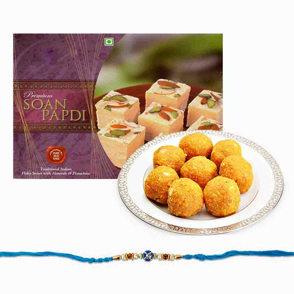 Delicious Sweets Combo with Rakhi