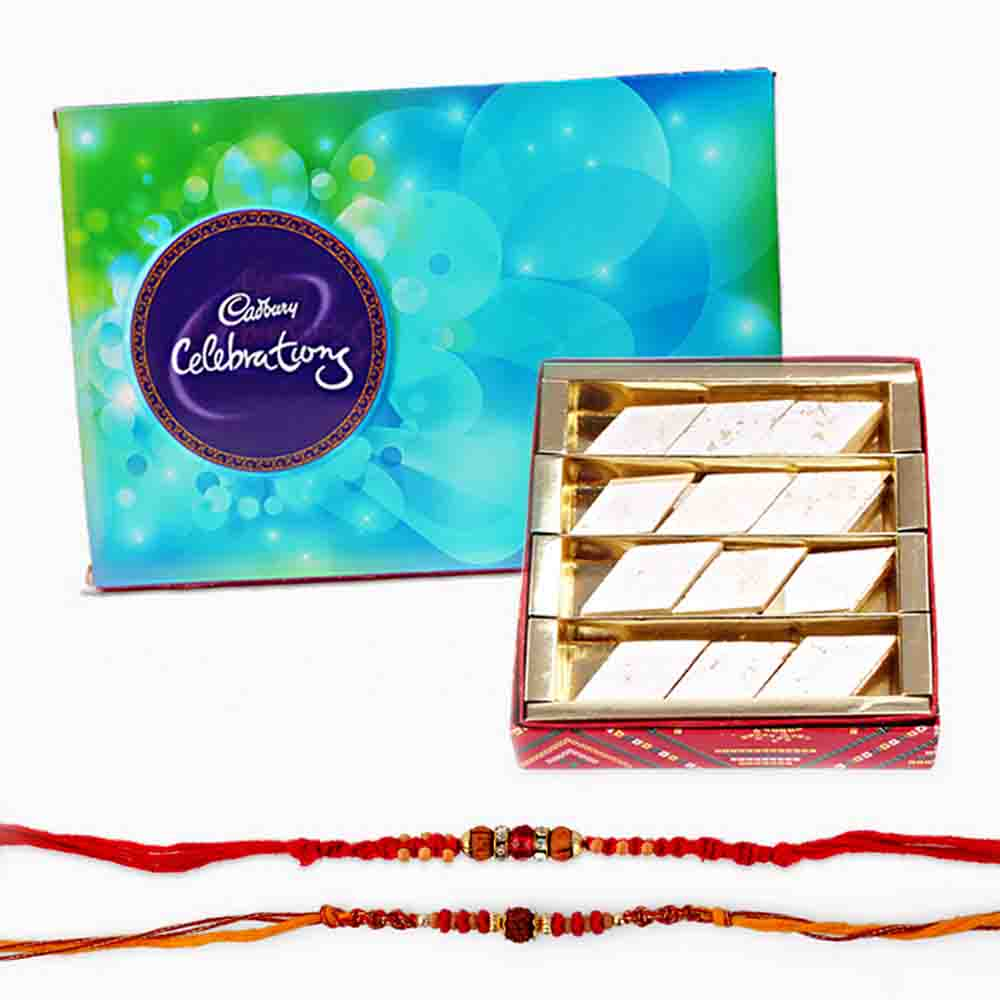 Cadbury Celebrations Chocolate Pack with Rakhi and Sweets