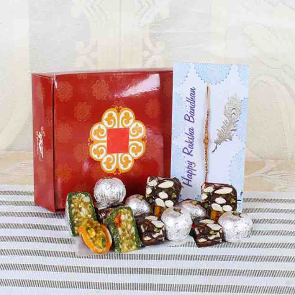Exotic Assorted Sweets with Rakhi