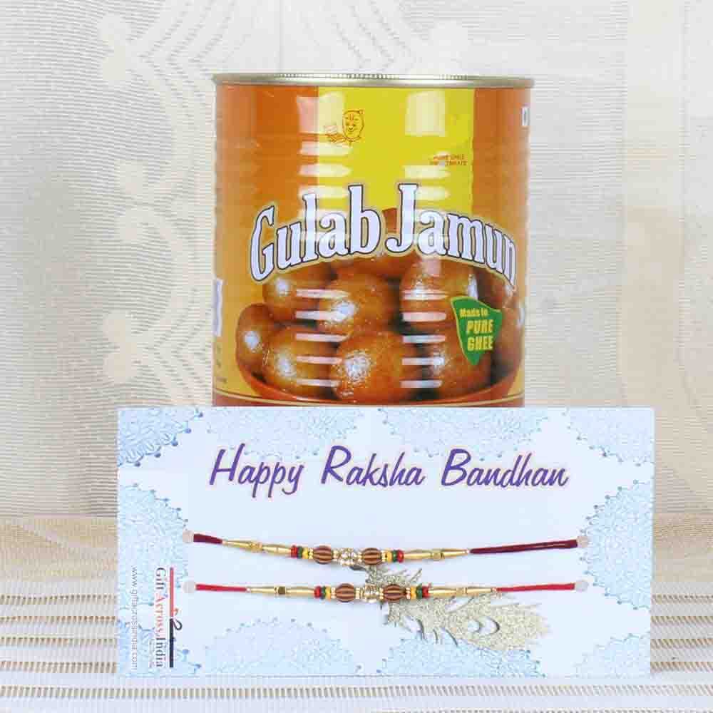 Sweets and Two Rakhi