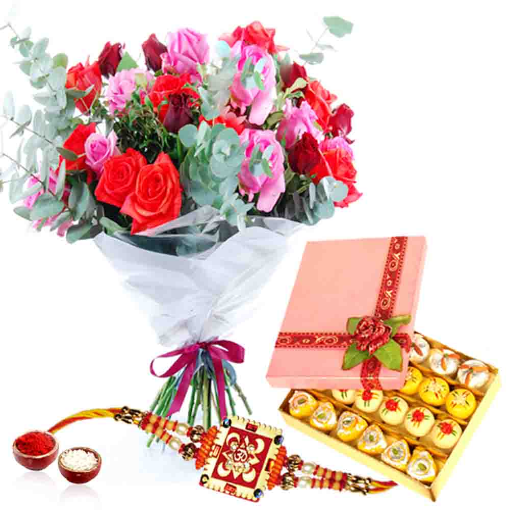 Lovely Roses and Sweet with Rakhi