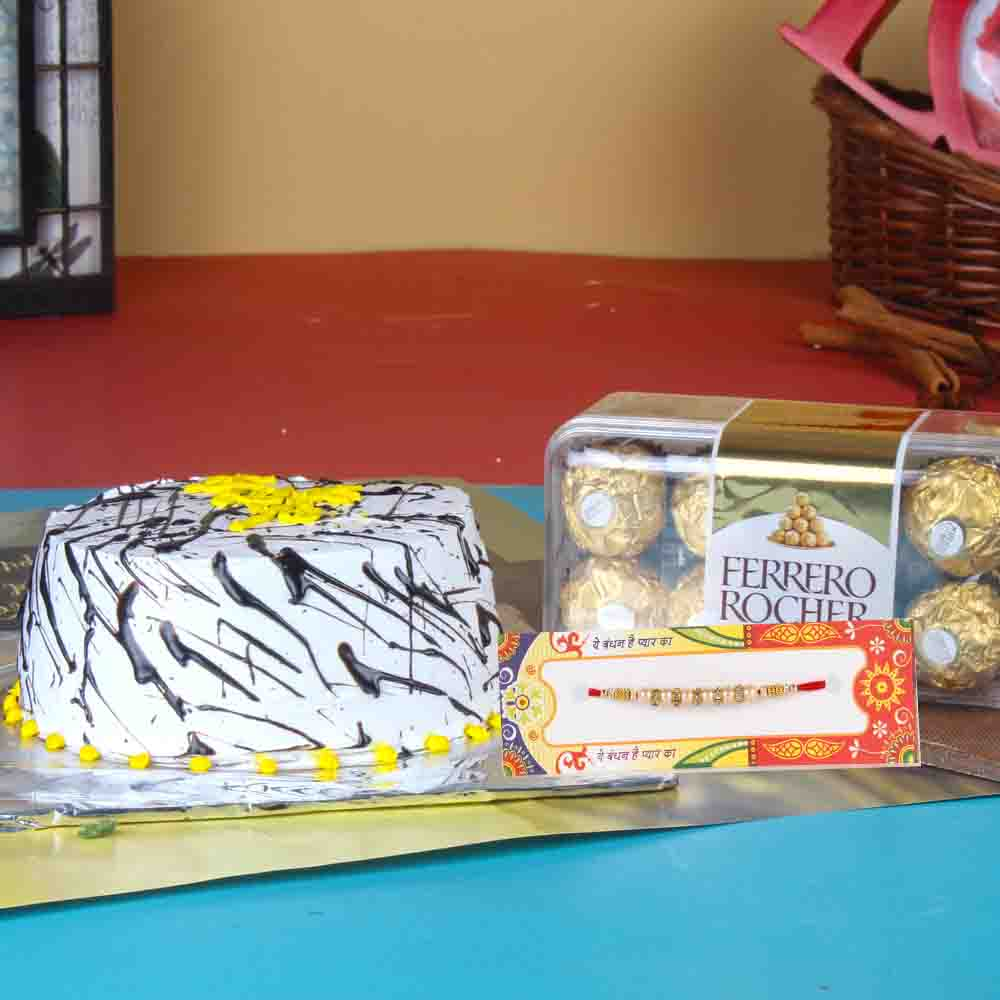 Chocolate with Cake and Rakhi Combo