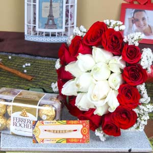 Floral Hampers-Attractive Rakhi Gifting Combo