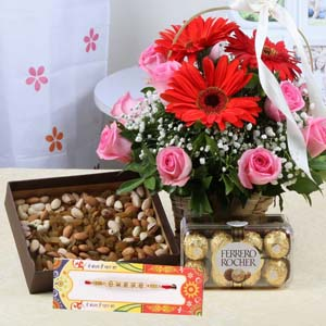 Floral Hampers-Exclusive Rakhi Gift for Bhai