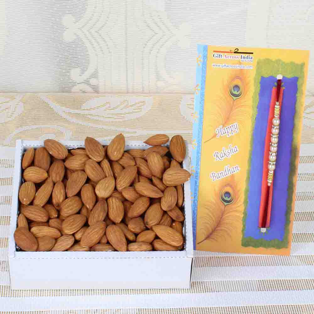 Almond Dry Fruit with Designer Rakhi