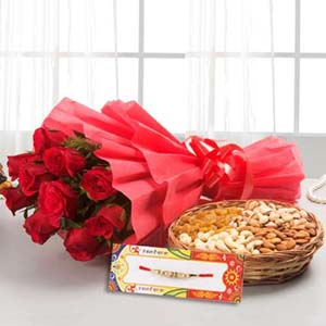 Floral Hampers-Rakhi Gifting Combo for Brother