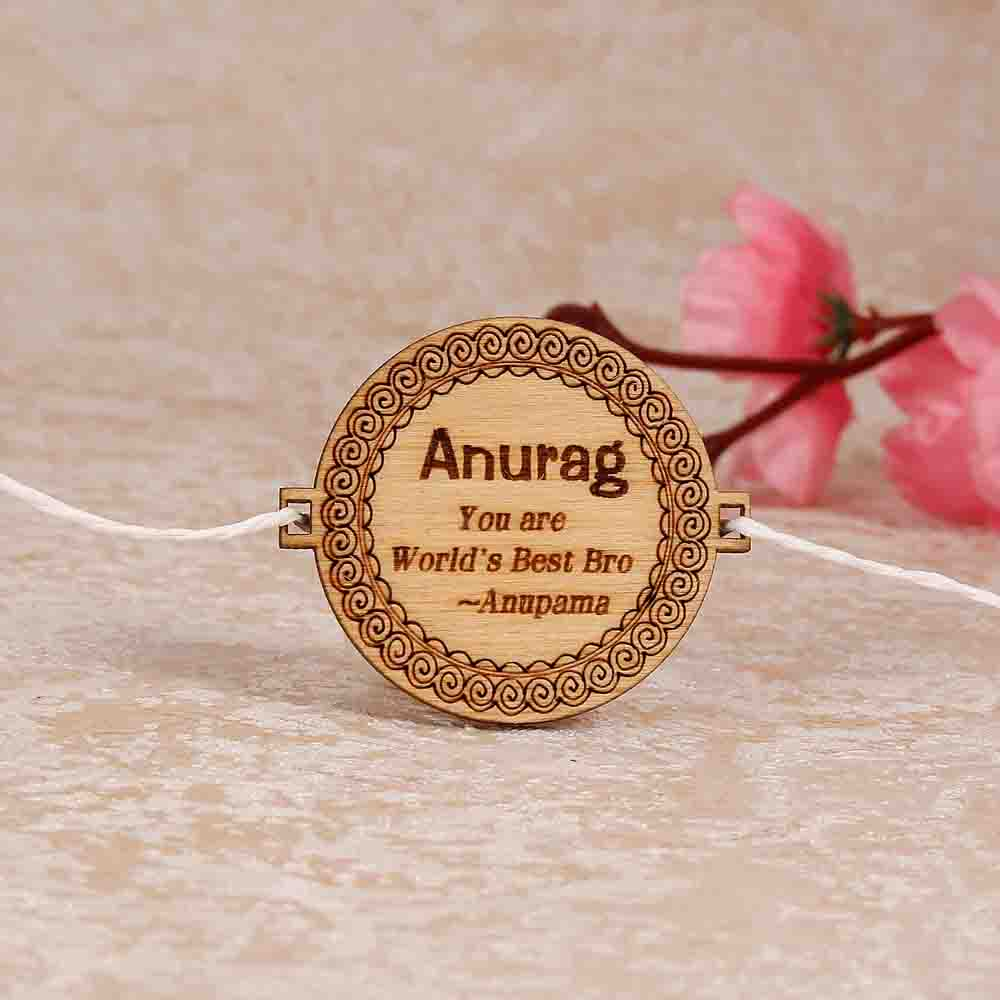 Quoted Personalized Engraved Rakhi