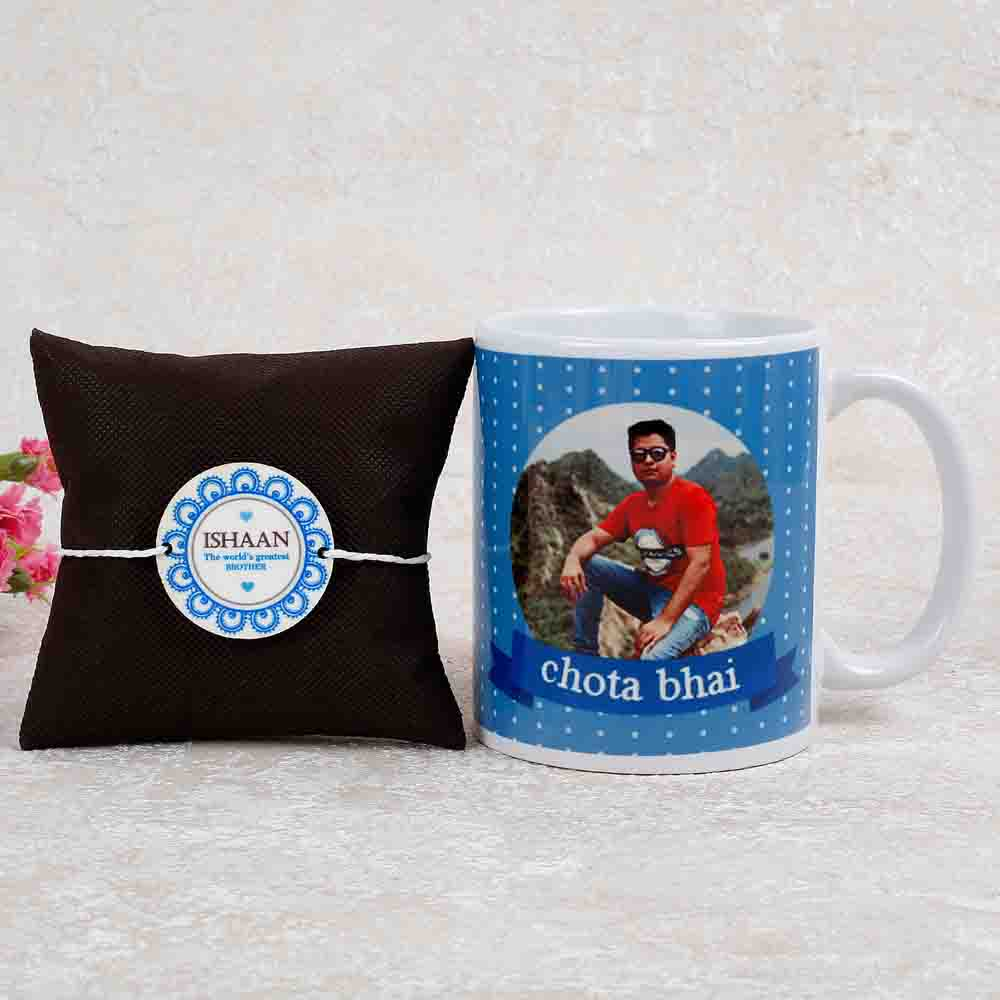 Personalised Combo Of Rakhi And Mug