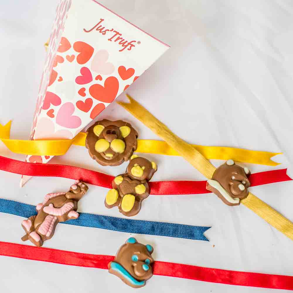 Cartoon Figures Chocolate Rakhis