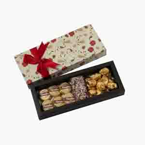 Chocolates & Cookies-Happy Rakhi Delectable Yummy Floral