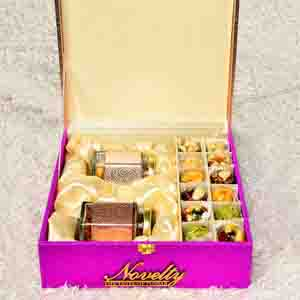 Assorted Mithai Boxes-Dry Fruit & Premium Sweets Box With Rakhi