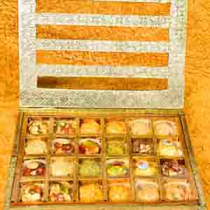 Assorted Mithai Boxes-Premium Ladoo Gift Box With Rakhi