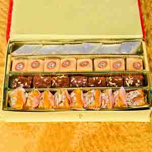 Assorted Mithai Boxes-Fancy Kaju Mix Gift Box With Rakhi