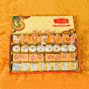 Assorted Mithai Boxes-Special Gift Pack With Rakhi
