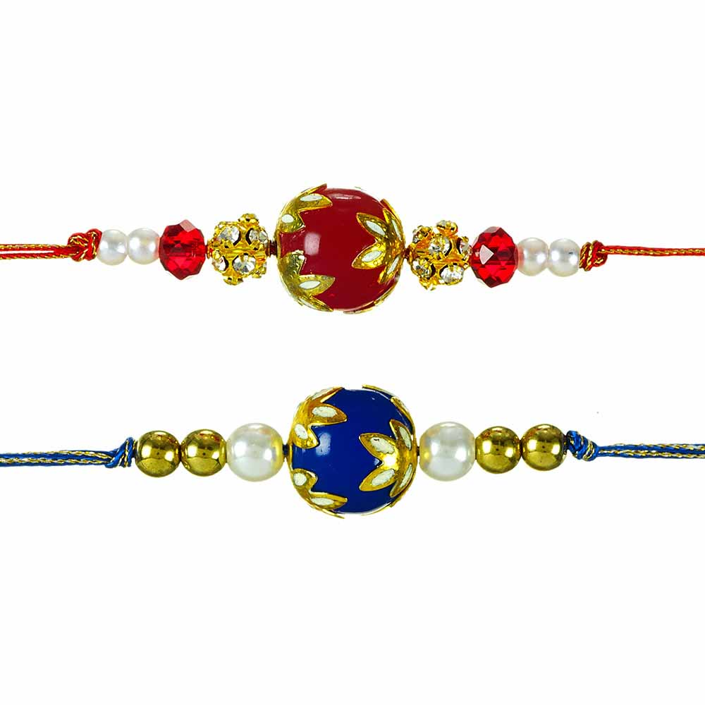 Royal Rakhi Collection-Minakari Rakhi Set of 2