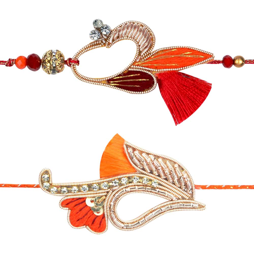 Zardozi Rakhi set of 2
