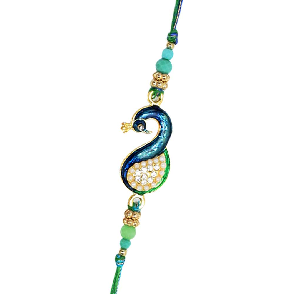 Peacock Rakhi Single