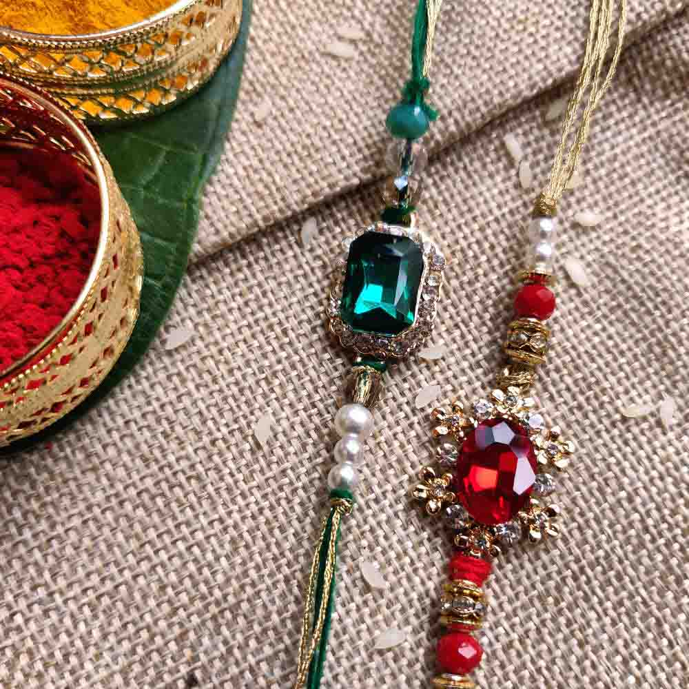 Diamond Rakhi set of 2