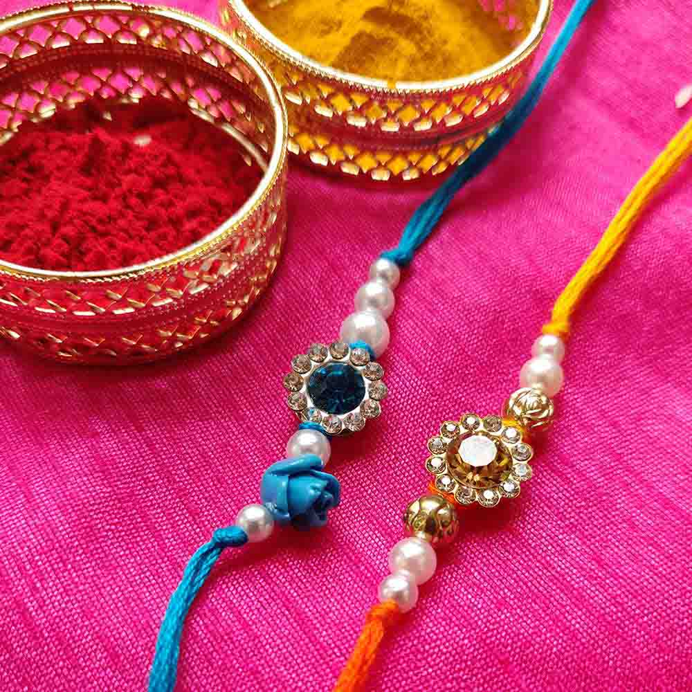 Royal Rakhi Collection-Diamond Rakhi set of 2