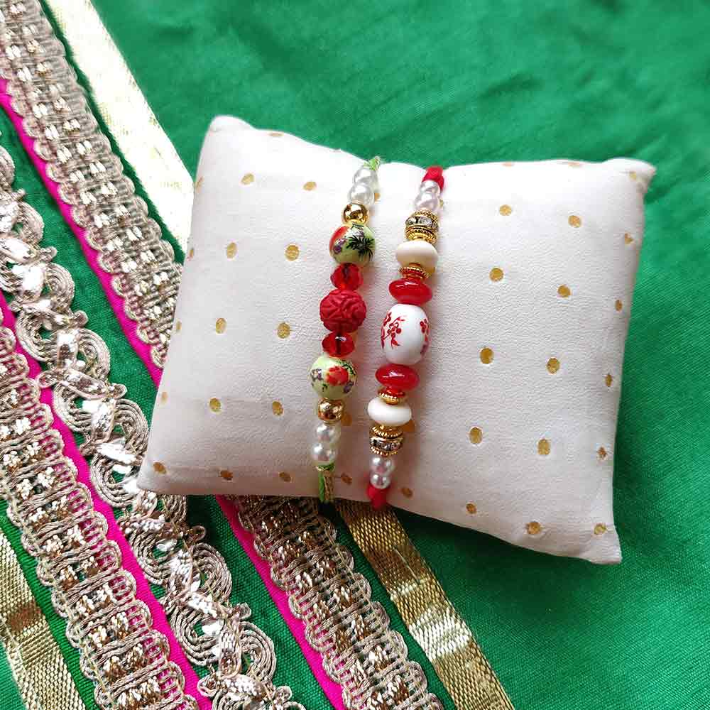 Bead Rakhi Set of 2