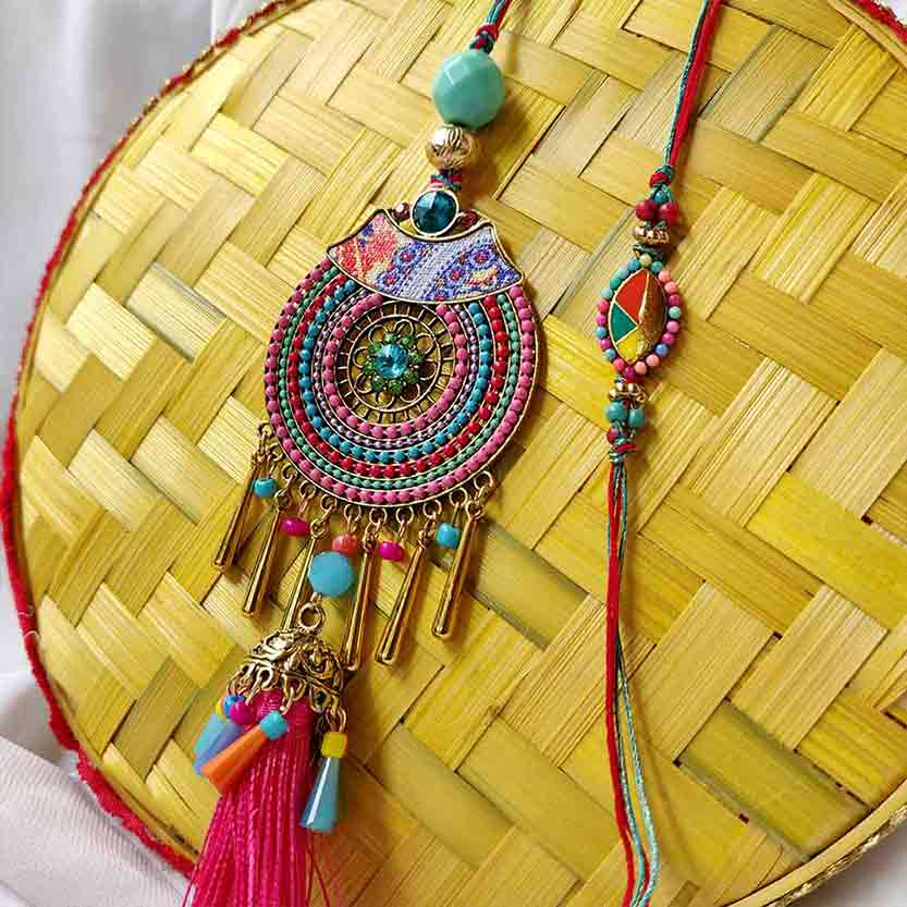 Royal Rakhi Collection-Bhaiya Bhabhi Rakhi Set