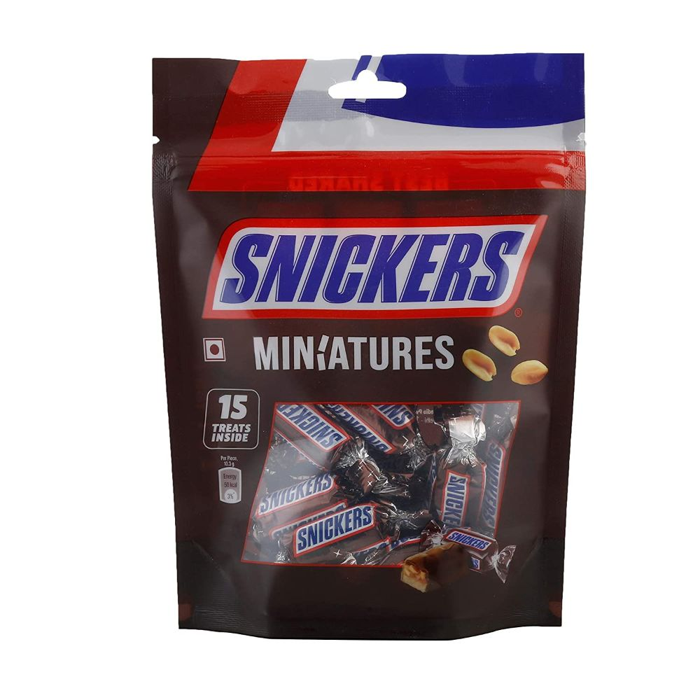 Imported Brands-Snickers Miniatures 150 gms