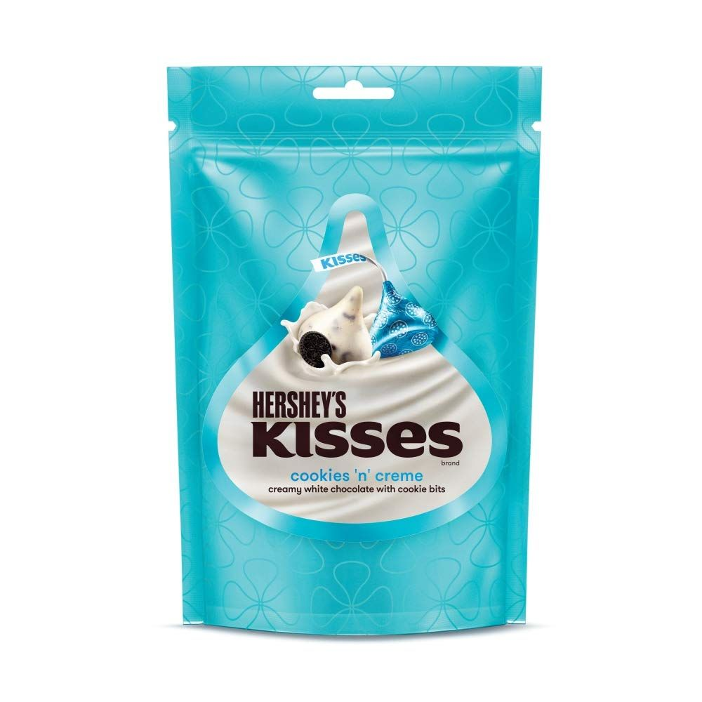 Imported Brands-Hershey's Kisses White Chocolates - Cookies & Creme, 100 g