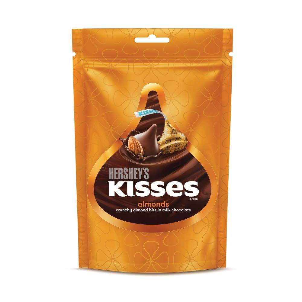 Imported Brands-Hershey's Kisses Almond Chocolates Pouch, 100 g