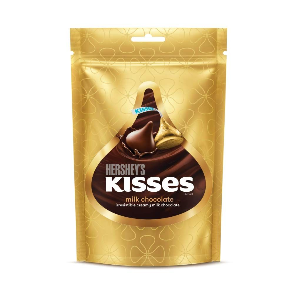 Imported Brands-Hershey's Kisses Milk Chocolates Pouch, 100 g