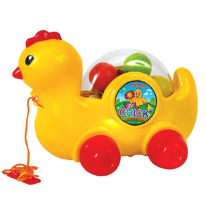 Pull Along Toys-Anand Pull Along Chick