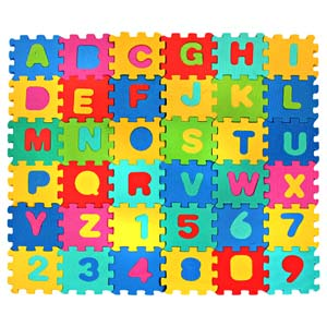 Puzzles-Alphabet and Number Foam Puzzle Mat