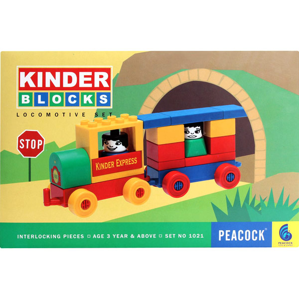 Educational-Peacock Kinder Blocks ? Locomotive Set