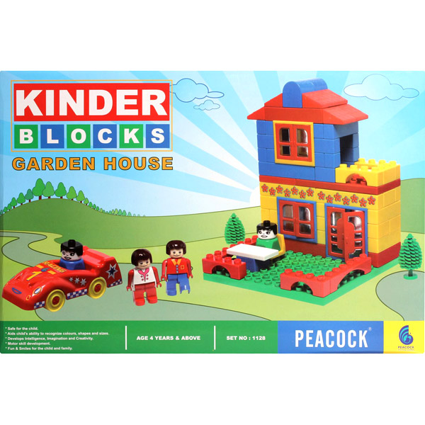 Peacock Kinder Blocks - Garden House