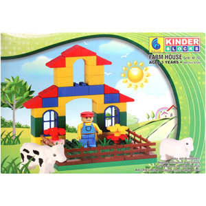 Educational-Peacock Kinder Blocks - Farm House