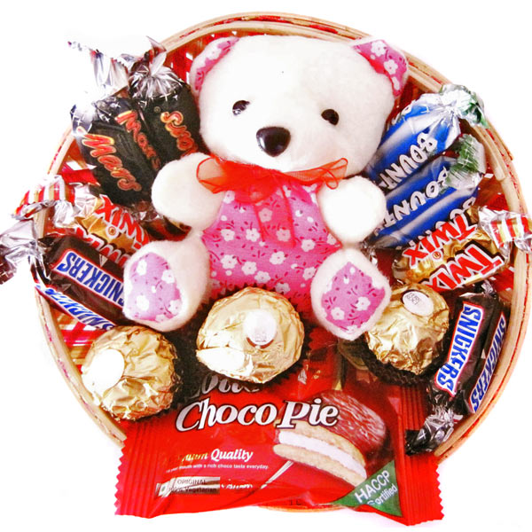 Stuffed Toys Gift Hampers-Assorted Chocolate Basket