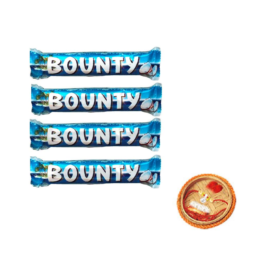 Bounty Chocolates - 4 pieces With Free Rakhi